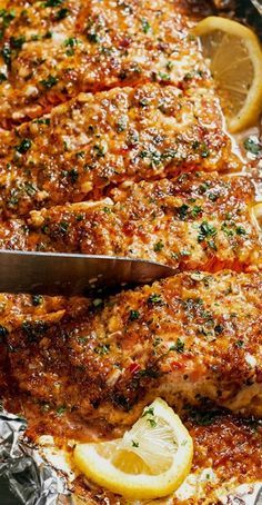 Baked Honey Garlic Salmon in Foil | Eatwell101