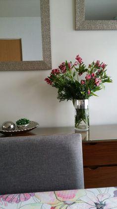 Home,  flowers,  mirror