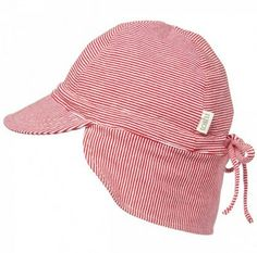 Toshi Baby Flap Cap - Red Stripe