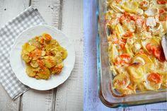 Smetanové brambory zapečené s kořenovou zeleninou