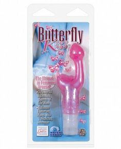 California Exotic Novelties Butterfly Kiss Pink by California Exotic Novelties. Save 56 Off!. $9.69. It's the ultimate in feminine arousalÉ the Butterfly Kisses!! This waterproof, gentle love toy will become your best friend!! This powerful arouser with a fluttering butterfly and sensually soft G-spot stimulator will leave you breathless! With one push of the easy push control, you'll be on your way with a choice of 9 functions of vibration, pulsation, and escalation! Measu...
