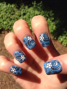 Beautiful stamping decals from instagram.com/missus_b! Wow!