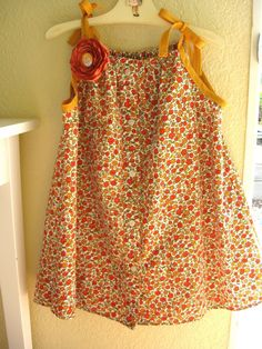 Steff's Stuff: woman's blouse to little girl's dress tutorial