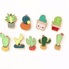 Cactus & Succulent enamel Pins