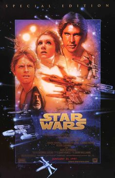 Star Wars (1977) Original R97 One Sheet Movie Poster