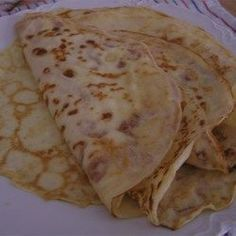 French Crepes - Allrecipes.com used 2 eggs , not 3 with 1/2 cup water