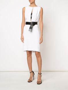 Kaufmanfranco belted cut-out dress