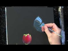 Tulip and Butterfly time lapse painting by Tim Gagnon. Visit Tim Gagnon Studio at http://www.timgagnon.com/ for more information and online lessons.