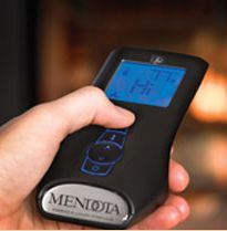 Adjust Your Mendota Gas Fireplace With Just A Touch Of On The Remote Control Allows You To Temperature And Heat Output Ease