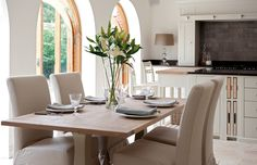 Reorganise your kitchen this Autumn/Winter so that the family can gather there easily. Global Village, Dining Table, House Design, Interior, Kitchen, Furniture, English, Autumn, Home Decor
