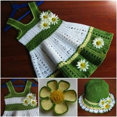 Crochet-Dress-and-Hat-Set-