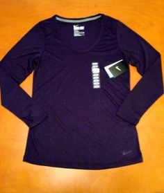 474ecd0d NIKE S Womens Purple DRI FIT Running Workout Crossfit Gym Loose Fit Shirt  NWT Crossfit Gym