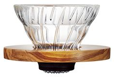 Hario VDG01OV V60 Glass Coffee Dripper 01 Olive Wood ** You can find more details by visiting the image link.