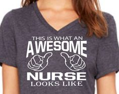 nurse shirt nurse gift AWESOME NURSE nurse Christmas gift