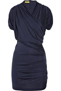 CATHERINE MALANDRINO - Wrap-effect silk-jersey dress pretty. work dress with nude heels