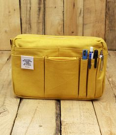 Delfonics Carry Bag - Medium - Yellow | NoteMaker - Australia's Leading Online Stationery Shop