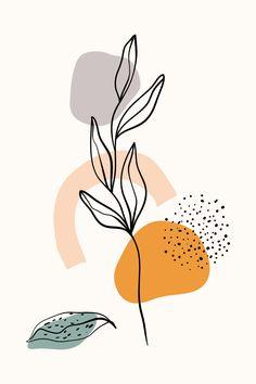 Wall Drawing, Art Drawings, Organic Art, Vintage Art Prints, Meaningful Life, Diy Painting, Collage Art, Art Inspo, Line Art
