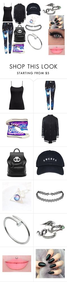 """""""Untitled #47"""" by erementaruartist on Polyvore featuring H&M, River Island, Converse, Topshop, Freddy and Cartier"""