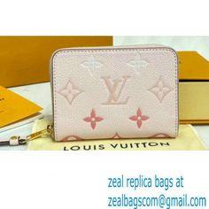 Louis Vuitton Monogram Empreinte Leather Zippy Coin Purse M80408 Bouton de Rose Pink By The Pool Capsule Collection 2021