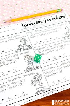 Spring activities for Kindergarten. Includes 36 math and literacy activities and partner games. All activities are very little prep or NO prep! Perfect for spring-time in Kindergarten. Spelling Words List, Sight Word Spelling, Cvce Words, Subtraction Activities, Rhyming Activities, Spring Activities, Numeracy, Math Literacy, Kindergarten Activities