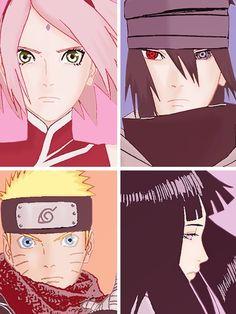 Naruto - Naruto the Last Movie - Sakura, Sasuke, Naruto and Hinata.