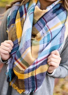 772d948a1c3c8 Blanket Scarf, $19.99 colorful blanket scarf, blanket scarf, scarf, fall  scarf, fall style, fall fashion, fall accessories, pink blanket scarf, ...