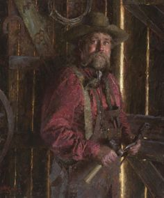 "The Blacksmith- © 2005 Morgan Weistling - ""The Blacksmith""  30"" X 25"""