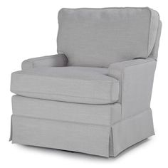 Red Barrel Studio Highgrove Swivel Glider and Ottoman Upholstery Color: Light Dove Swivel Glider Chair, Glider And Ottoman, Swivel Armchair, Soft Seating, Cool Chairs, Gliders, Living Room Chairs, Rocking Chair, Seat Cushions