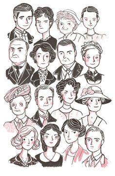 Downton Caricatures