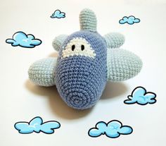 Airplane Crochet Pattern Airplane Crochet by DuduToyFactory