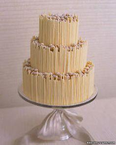 torta nuziale al cioccolato bianco