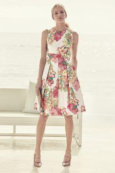 89b0247f1a7f Eliza J Floral Print Fit   Flare Dress Fit Flare Dress
