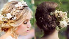Peinados boda: recogido floral