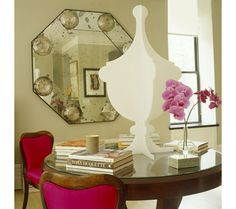 Make An Entrance. Center a library table. Interior Design: Paula Caravelli and Martha Angus, Paula + Martha LLC.