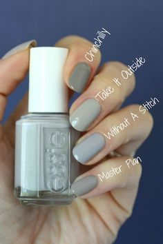 Essie Wild Nude, Winning Streak & Without A Stitch : Swatches & Comparisons | Essie Envy