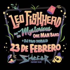 Leo Fishhead One Man Band Gig Poster. Mermaid, Psychobilly, Garage and Pastel Vibes.  Ознакомьтесь с моим проектом в @Behance: «Leo Fishhead One Man Band.  Gig in Sidecar. Barcelona» https://www.behance.net/gallery/47871277/Leo-Fishhead-One-Man-Band-Gig-in-Sidecar-Barcelona