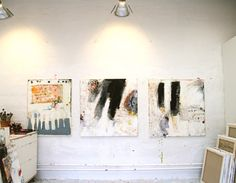 Loving this artist: Line Juhl Hansen Artist Art, Artist At Work, Atelier Creation, Contemporary Paintings, Art Studios, Abstract Art, Abstract Paintings, Abstract Expressionism, Illustration