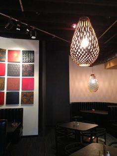 David Trubridge Koura lighting at Manuel's in Austin, Texas  #lighting #design