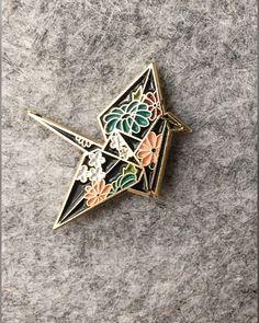 """""""Night SCLV Origami Crane Pin,"""" from Sophie C'est la Vie"""