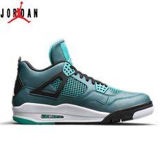 hot sale online c8ec3 35941 Authentic 705330-330 Air Jordan Retro 4 Teal Black-Retro-White Men Women, Jordan-Jordan 4 Shoes Sale Online