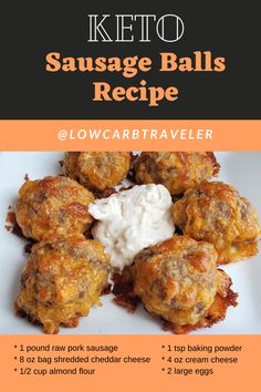 I made the most DELICIOUS sausage balls this week and they're VERY low carb. You probably have all the ingredients to whip these up and enjoy them today! Low Carb Appetizers, Great Appetizers, Breakfast Appetizers, Jimmy Dean, Paula Deen, Food Network, Low Carb Recipes, Vegetarian Recipes, Health Recipes