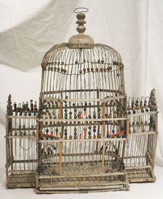 Victorian Birdcage, 1890. One of the Victorian domestic economy books I found on Google Books had an entire chapter on how to care for canaries.