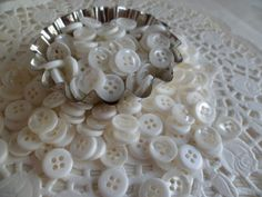 100 Vintage Pearl White Buttons comes with by VintageLover818, $3.25