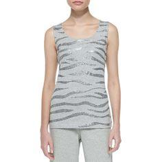 Joan Vass Sequined Cotton Shell