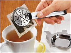 stainless steel teabag holder and teabag squeezer