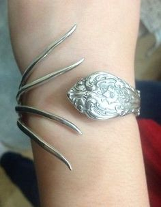 Gorham Sterling Silver Spoon / Fork Bracelet in Jewelry & Watches, Handcrafted, Artisan Jewelry, Bracelets | eBay
