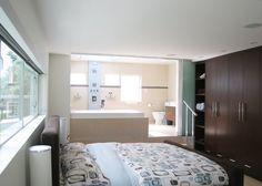 Bathroom And Bedroom: Awesome Open Bedroom Bathroom Design Ottawa Ave  Residence