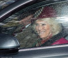 Rainy day: Camilla, the Duchess of Cornwall, was photographed arriving at church in Crathie, Aberdeenshire, today House Of Windsor, Windsor Castle, Prince Phillip, Prince Charles, Duchess Of Cornwall, Duchess Of Cambridge, Visit Canada, Her Majesty The Queen, Saint George