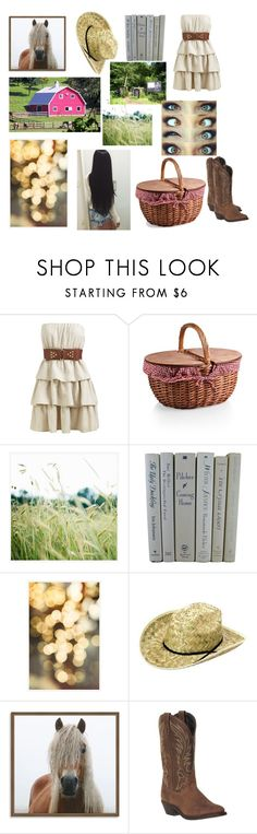 """country girl"" by shaylatho ❤ liked on Polyvore featuring Wet Seal, Pottery Barn, West Elm, Laredo and country"