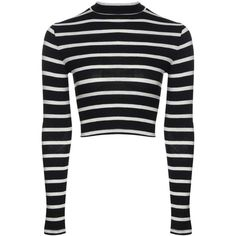 Daisy Stripe Turtle Neck Crop Knitted Jumper (€11) ❤ liked on Polyvore featuring tops, sweaters, white jumper, women sweaters, polo v neck sweater, daisy sweater and cropped turtleneck